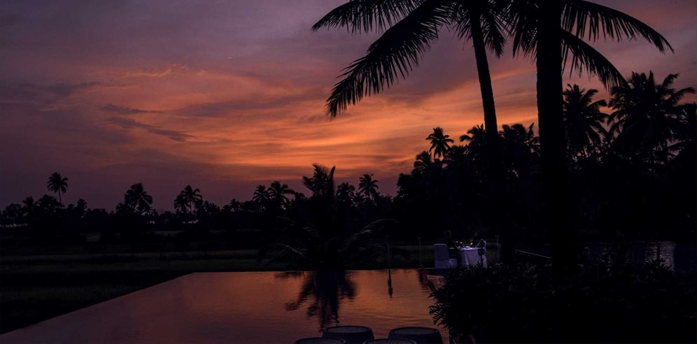 Sunsets at Alila Diwa, Majorda, South Goa