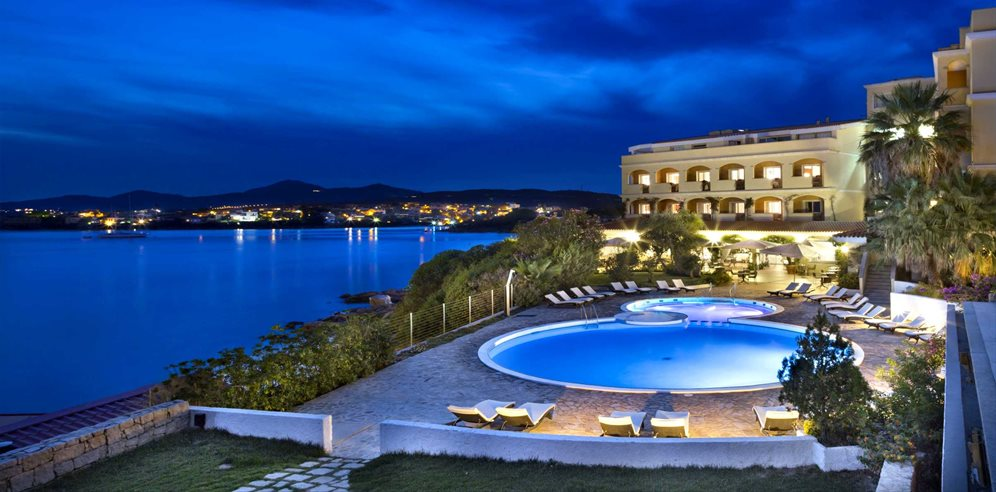 The pool at night - Gabbiano Azzurro Hotel & Suites