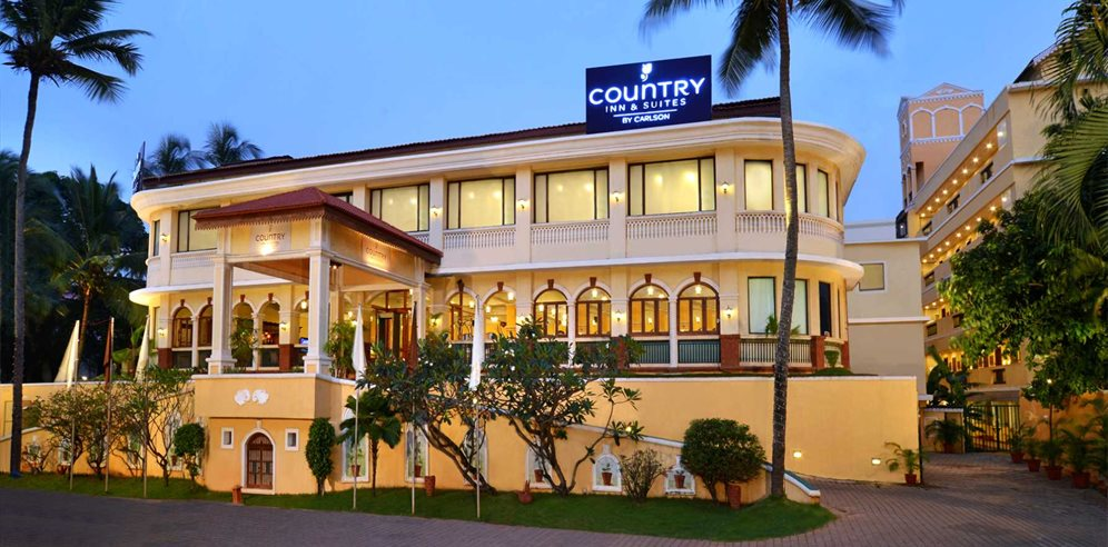 Hotel Entrance at Country Inn & Suites, Candolim, North Goa