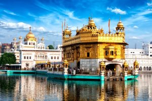 Famous indian landmark - Sikh gurdwara Golden Temple (Harmandir Sahib). Amritsar, Punjab, India - DR Travel Photo and Video | Shutterstock