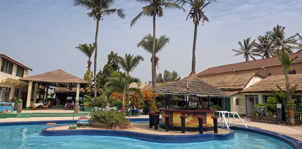 Swimming pool at African Village, Bakau, The Gambia
