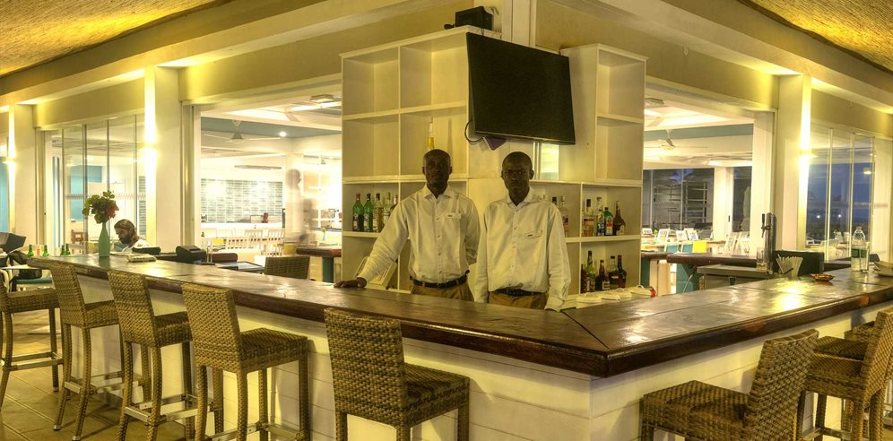 Bar at Sunset Beach Hotel, Kotu, The Gambia