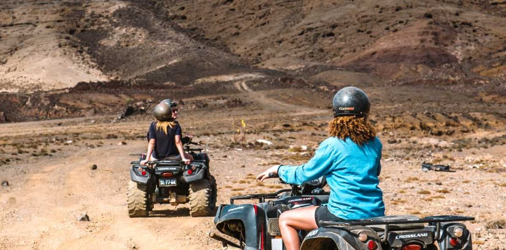 Quad biking on Sal island, Cape Verde