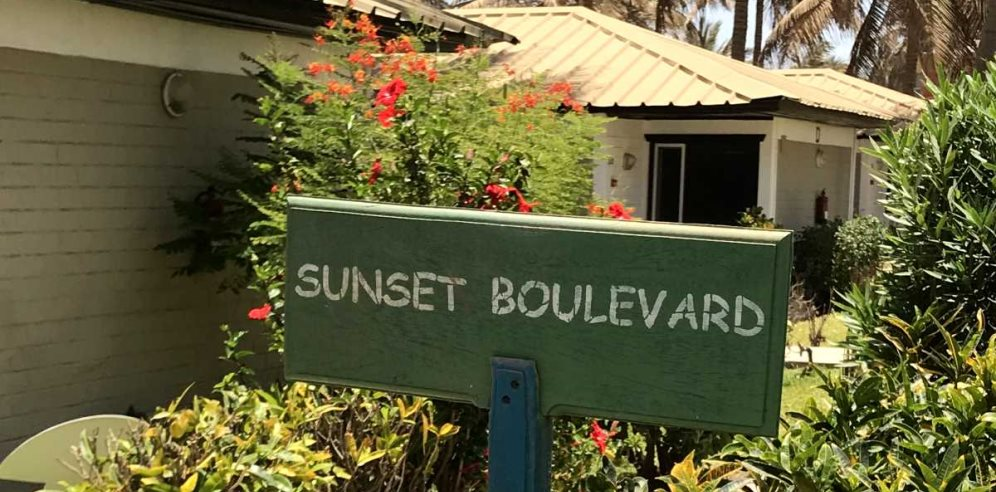 Rooms set in tropical gardens at Sunset Beach Hotel