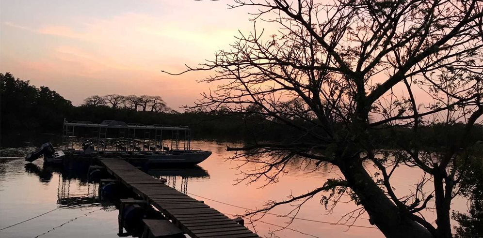 Sunset cruise at Fathala Wildlife Reserve