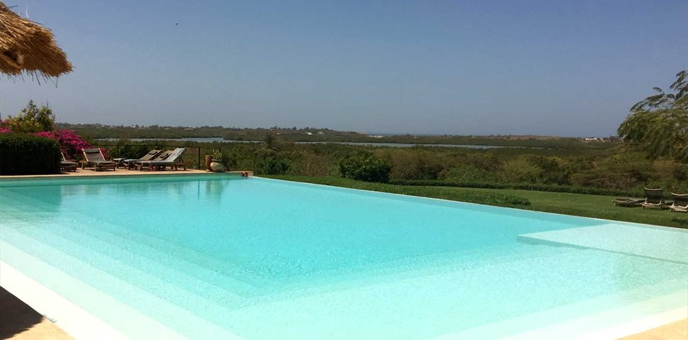 Stunning pool and views at Les Manguiers, Senegal