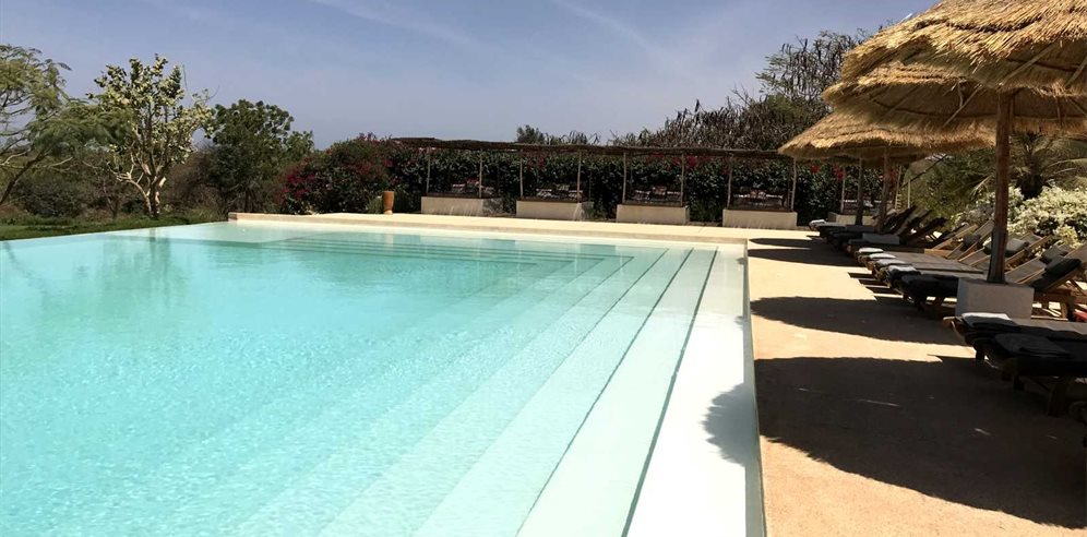 Swimming pool at Les Manguiers de Guéréo, Senegal
