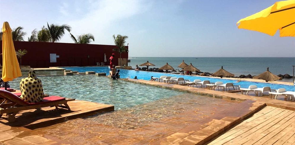 One of the pools at Royal Horizon Baobab Hotel in La Somone, Senegal
