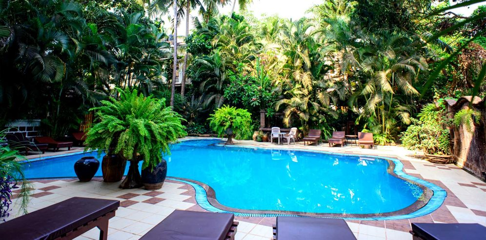 Swimming Pool at Alidia Beach Resort, Baga, North Goa