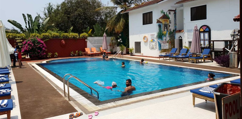 Swimming Pool at Colonia Santa Maria, Baga, North Goa