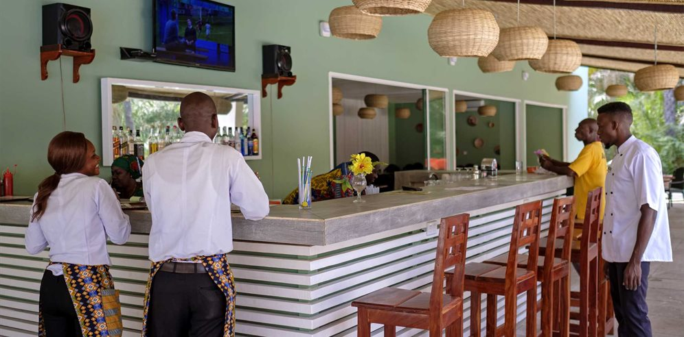 Bar at Senegambia Beach Hotel, Kololi, The Gambia