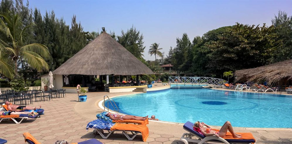 Swimming pool at Kairaba Beach Hotel, Kololi, The Gambia
