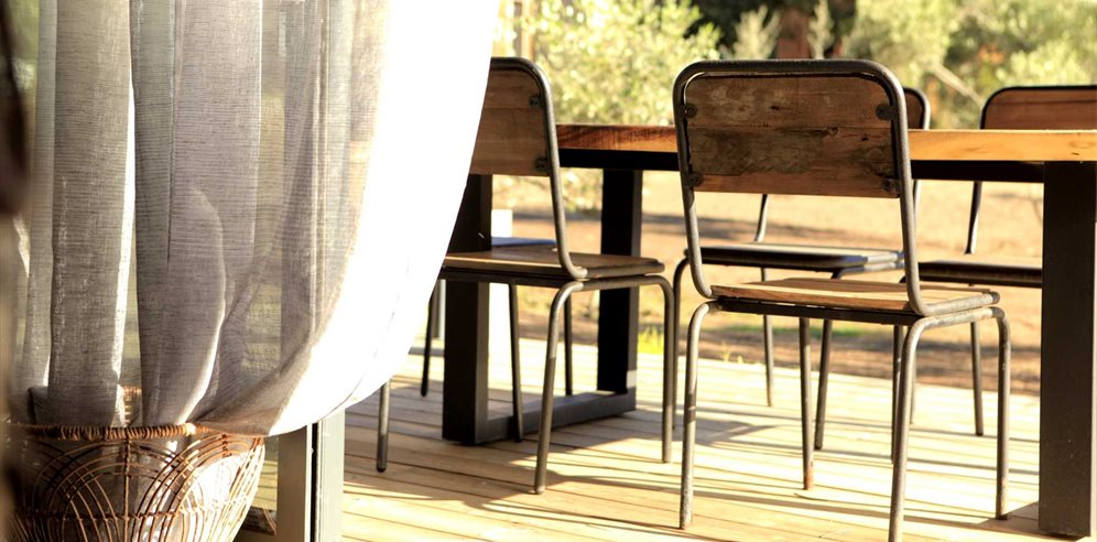 Outdoor seating for Al fresco dining - Casa Legna - La Balagne