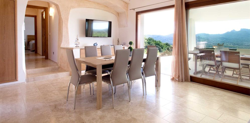Dining Area and Terrace - Villa Pietra Bianca