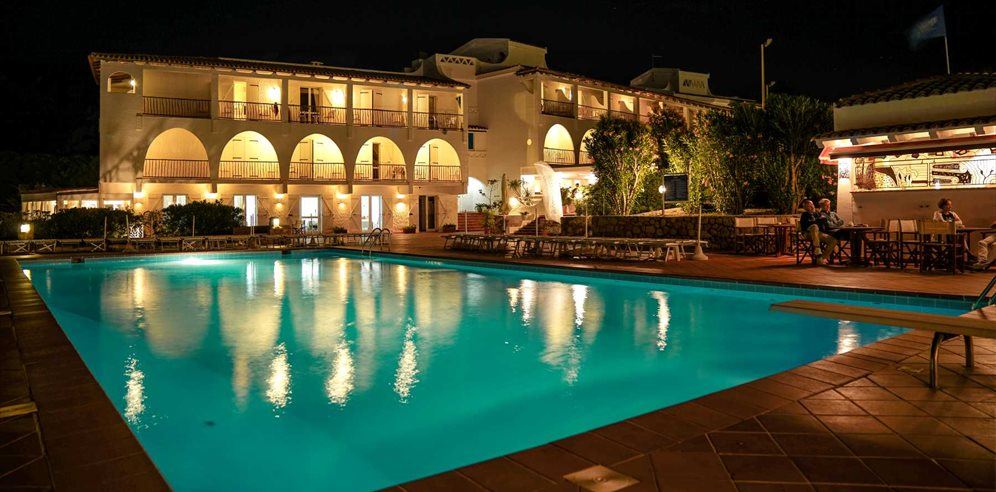Pool at Night - Club Hotel Cormorano
