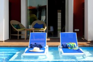 Ground floor pool room at African Princess Beach Hotel