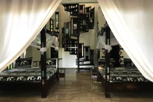 Jungle Lodge with twin beds at Mandina