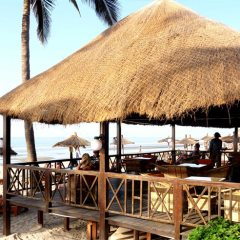 Beachside deck at Kombo Beach Hotel, Kotu, The Gambia