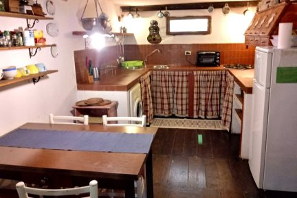 Kitchen area in Villetta Larabella, at Villas Santa Caterina