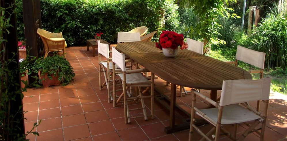 Outdoor Terrace of Casetta Fiordaliso, at Villas Santa Caterina