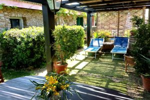 Outdoor space in Casina Dolinda, at Villas Santa Caterina