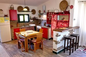 Bright and fresh kitchen in Casina Dolinda, at Villas Santa Caterina