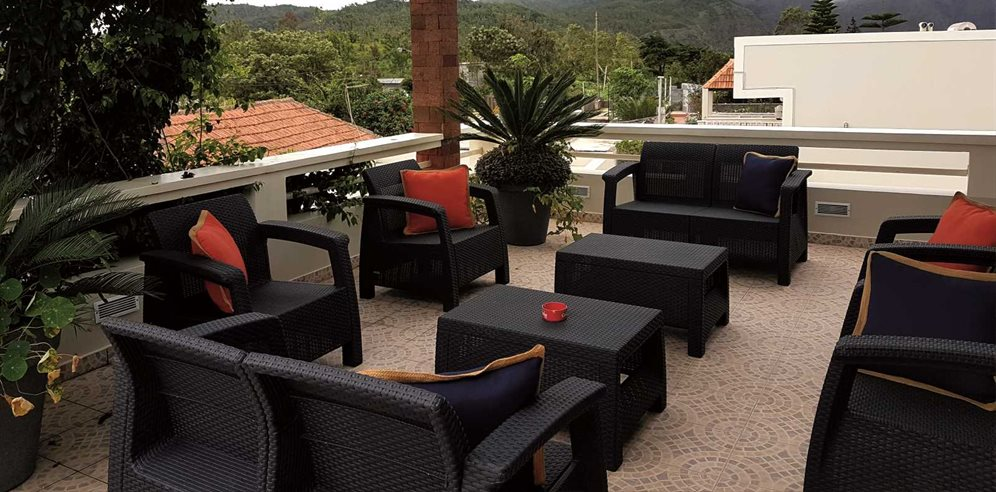 Roof Terrace at Quinta da Montanha, Santiago, Cape Verde