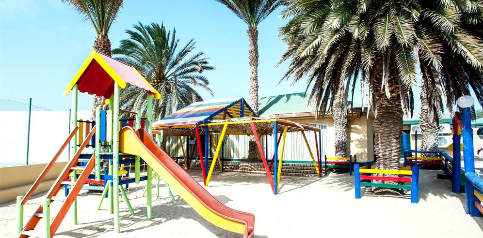 Children's play area, Oasis Belorizonte, Sal, Cape Verde