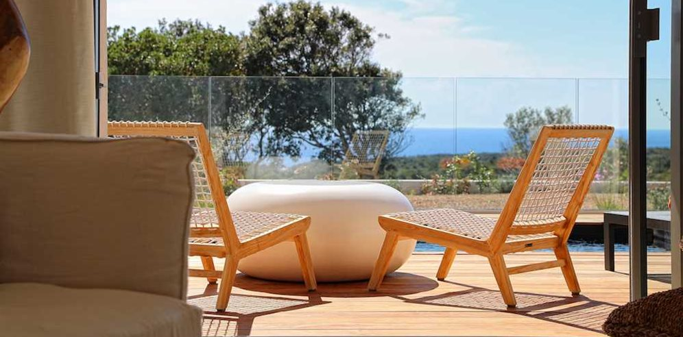 Deluxe Suite terrace with Private Swimming pool at Hotel Cala di Greco