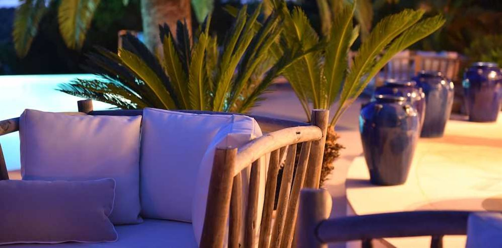 Outdoor lounge area at Hotel Cala di Greco