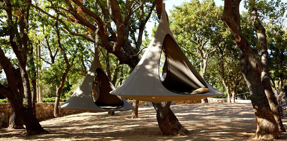 Tepee hideaways in the garden