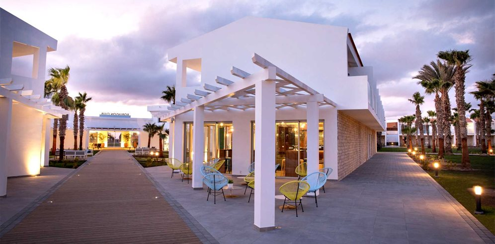 Walkway and Indoor Bar, Robinson Club Cabo Verde, Sal in Cape Verde