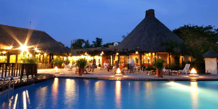 Kombo Beach hotel at night